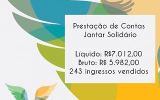 Imagem de Prestação de Contas - JANTAR SOLIDÁRIO